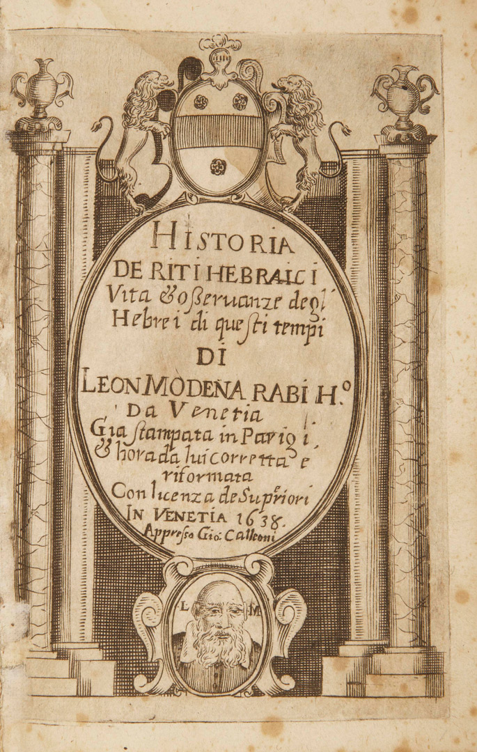 1638 Venetian historical text title page
