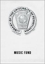 Department of Music Fund Bookplate