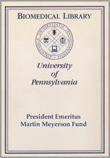 President Emeritus Martin Meyerson Fund Bookplate