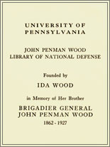John Penman Wood Library Fund Bookplate