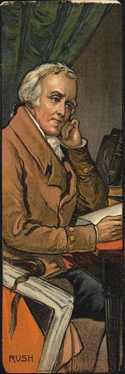 Print of Benjamin Rush at desk, after Sully
