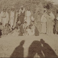 Bedouins showing the shadow of the photographer