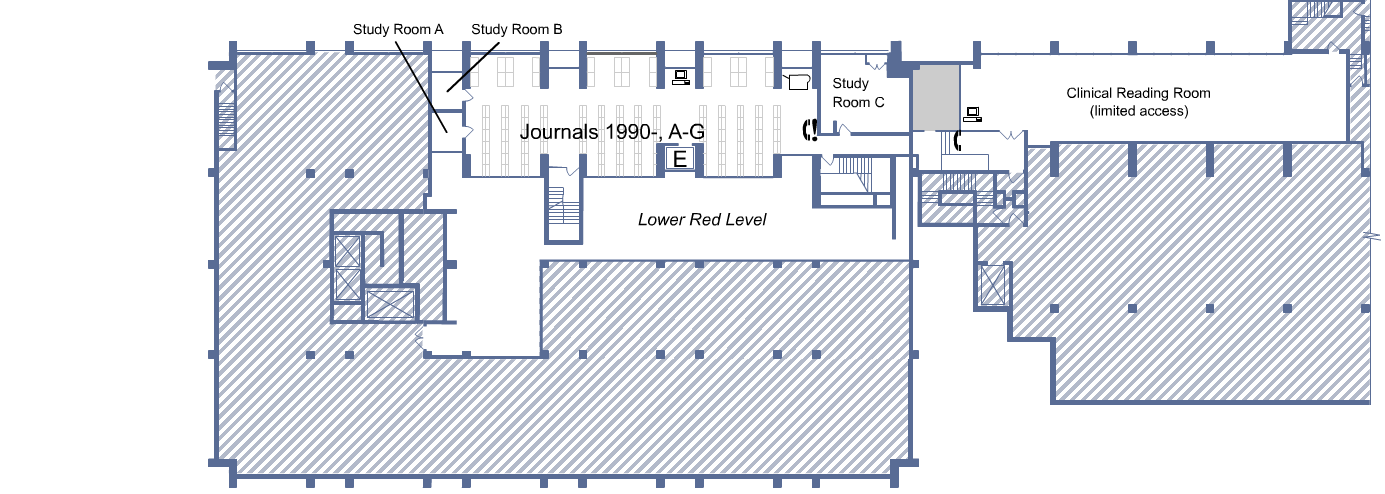 Biomed Library Blue level floor plan