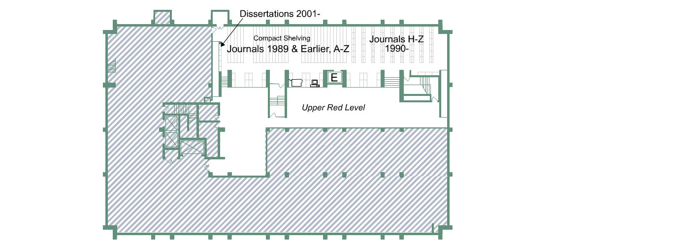 Biomed Library Green Level floor plan