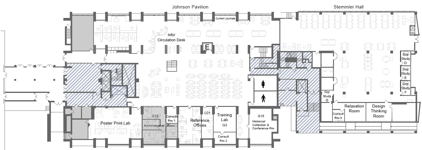 Biomed Library main floor plan