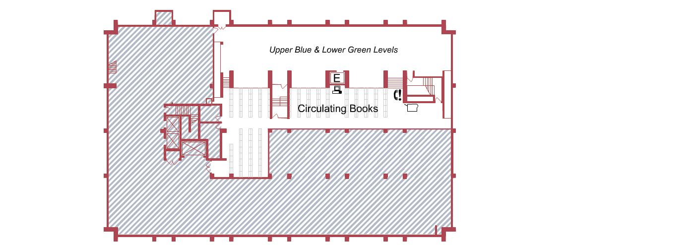 Biomed Library Red Level floor plan