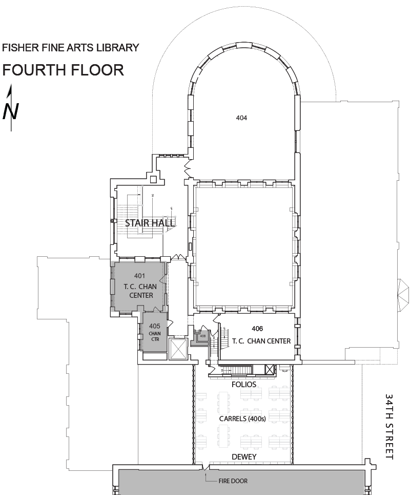 Fine Arts Library fourth floor plan