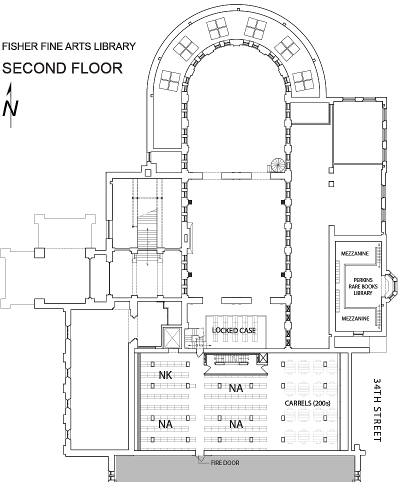 Fine Arts Library second floor plan