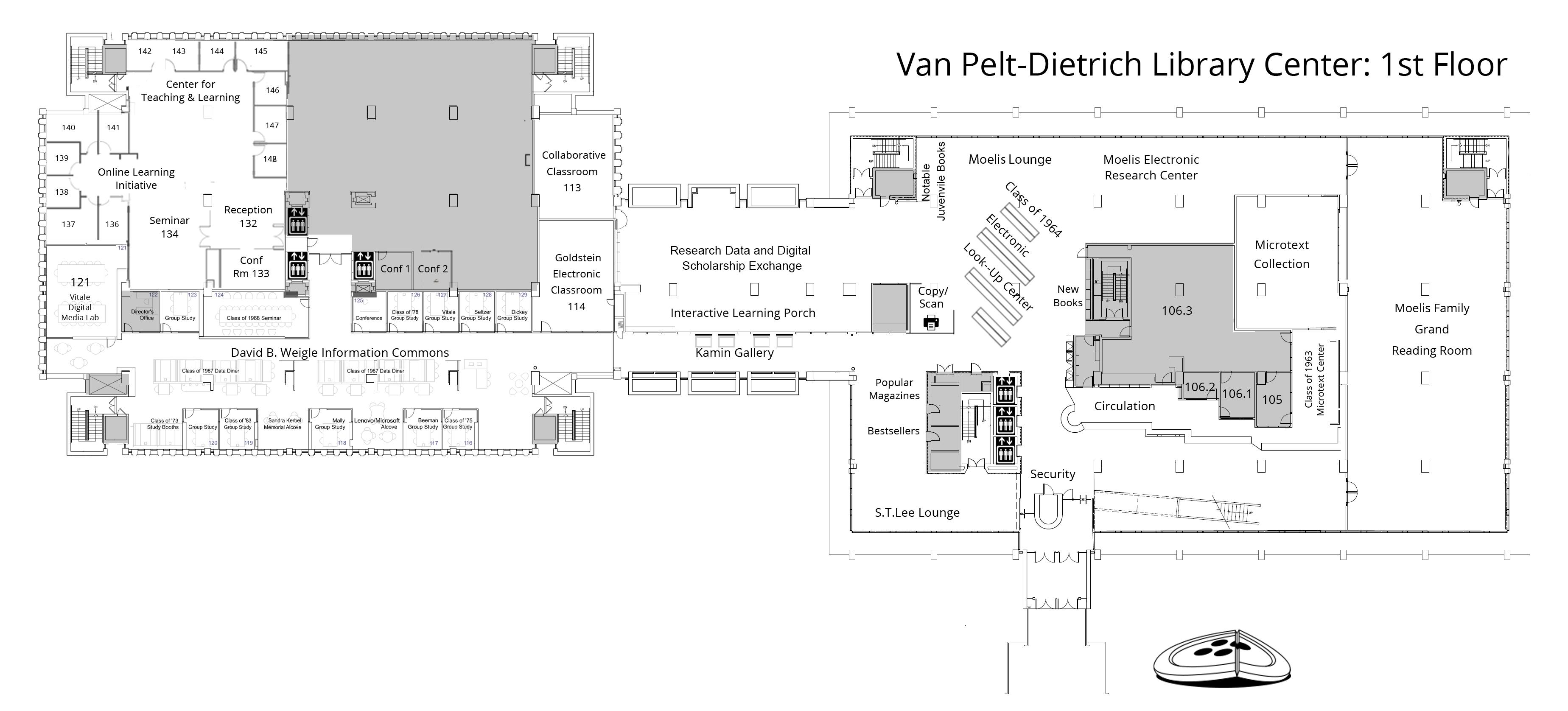 Collaborative Classroom Van Pelt : Van pelt dietrich library center first floor penn