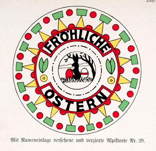 Frohlich Ostern plate