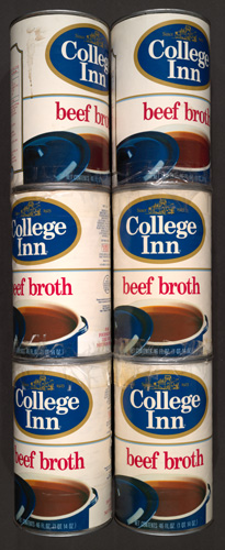 Broth cans.