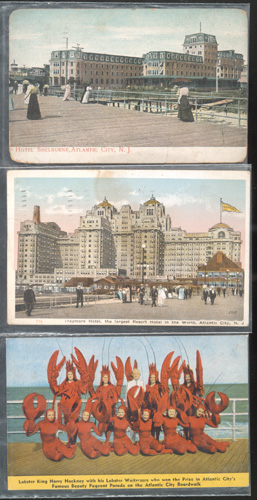 Postcards from Atlantic City.