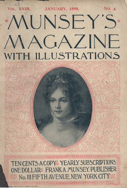 Munsey's Magazine cover featuring an illustrated female portrait