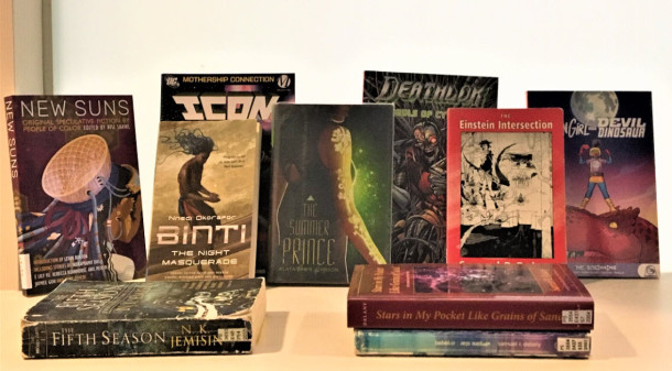 Selection of Afrofuturistic books