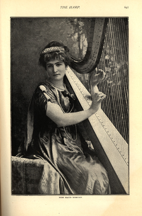 black and white photo of Miss Maud Morgan