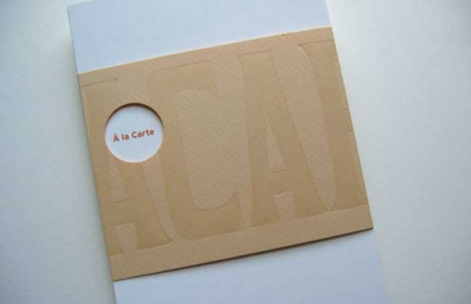 Cover of A La Carte, with lasercut wrapper