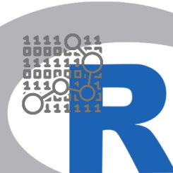 R logo plus data icon