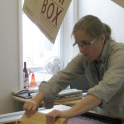 Mary Tasillo at work (but not at Common Press)