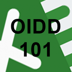 Excel logo, OIDD101 superimposed