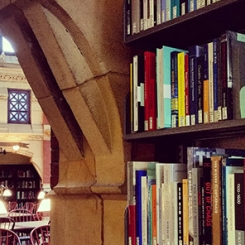 Bookshelves in Fisher Fine Arts Library