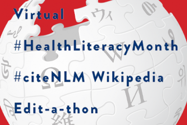 Virtual | #HealthLiteracyMonth | #citeNLM Wikipedia | Edit-a-thon