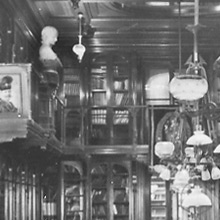 Detail of photograph of Lea's library in his home at 2000 Walnut Street, Philadelphia