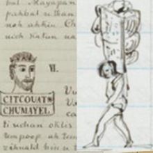 Two manuscript pages from the Berendt Brinton Collection