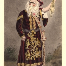 Edwin Forrest as King Lear, lithograph [19th c], Furness Theatrical Image Coll. P/Fo600.18 ML
