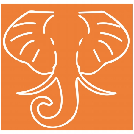 HathiTrust Logo outline of elephant head
