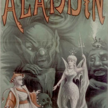 Book cover for Victorian-era edition of Aladdin