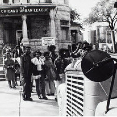 Black and white photograph of the Chicago Urban League