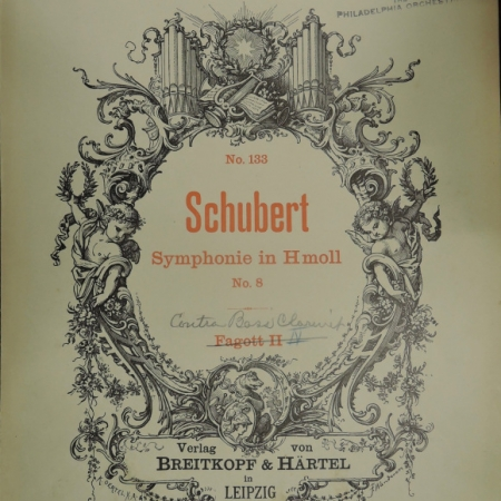 Philadelphia Orchestra Schubert Symphonie No. 8 program