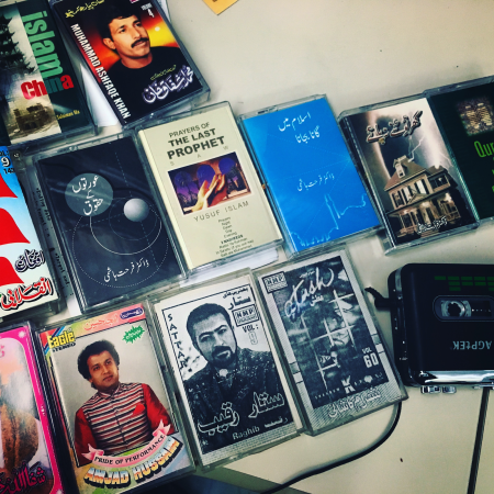 Assorted cassettes in various languages