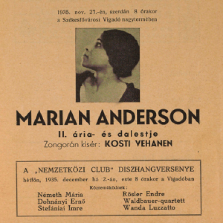 Cover of Marian Anderson performance program