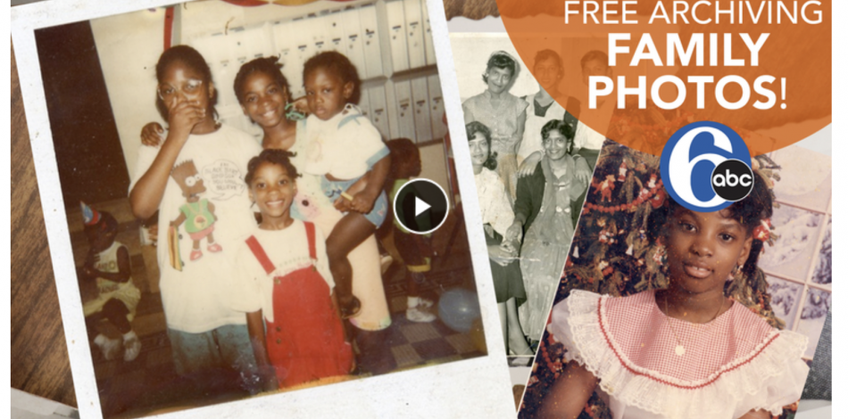 Screenshot of featured video — family photos