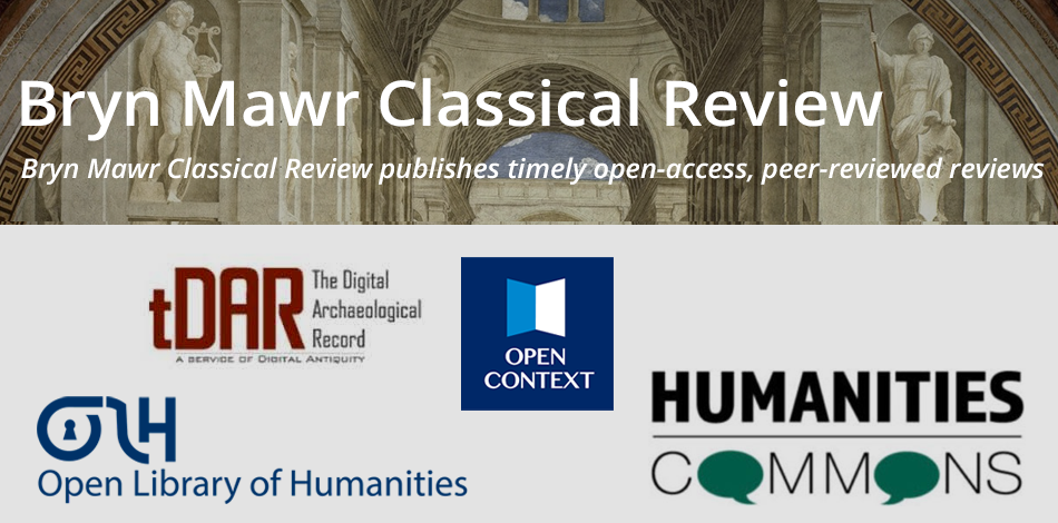Logos and headers for these journals: Bryn Mawr Classical review, The Digital Archaeological Record, Open Library of Humanities, Open Context, Humanities Commons
