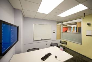 Video recording rooms in the Weigle Information Commons