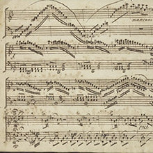 Detail from Ludwig Abielle, Ill sonates pour le clavicin ou pianoforte opera III (France, 17th century), UPenn Ms. Codex 13, Kislak Center.