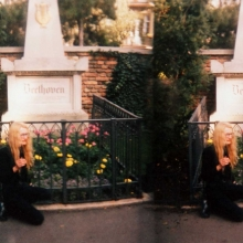 Amacher at Beethoven's tomb: Double image