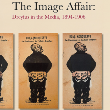 Triple image of the Zola caricature, from the catalog cover