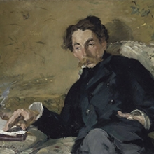 Édouard Manet, painting of Stéphane Mallarmé, 1876.  Collection of the Musée d' Orsay, Paris