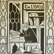 Detail of bookplate of Eugene Morris Pharo (1893-1945), Kislak Center for Special Collections, Rare Books and Manuscript