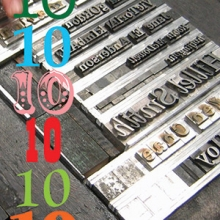 Photo of type being set for printing on the Common Press (2006) courtesy of David Comberg