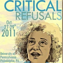 Critical Refusals conference poster by Mandy Newham