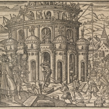 Tower of Babel woodcut