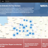 Screenshot of website with map of Belarus