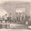Lithograph of bakers preparing matzoh